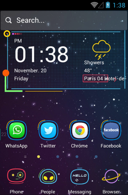 android theme 'Cosmic Ride'