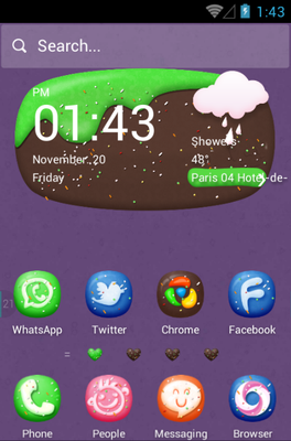 Sweet Dishes android theme