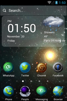 android theme 'Star Trip'