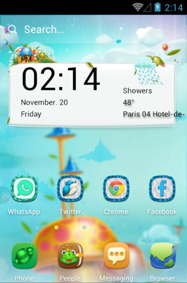 Mushroom Forest android theme
