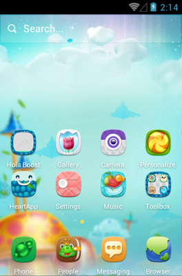 Mushroom Forest android theme home screen