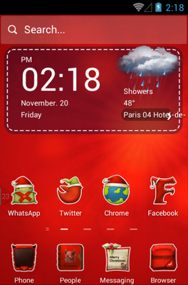 Merry Christmas android theme