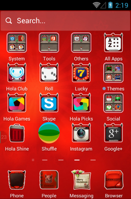 Merry Christmas android theme application menu