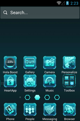 Future Tech android theme home screen