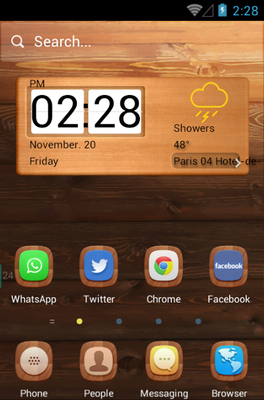 android theme 'A Wooden Finish'