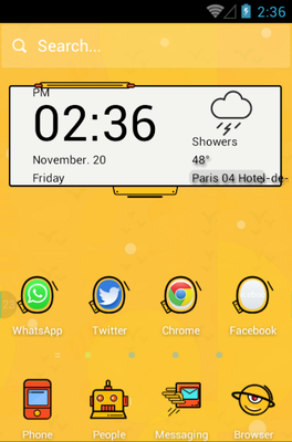 android theme 'Crazy Yellow'