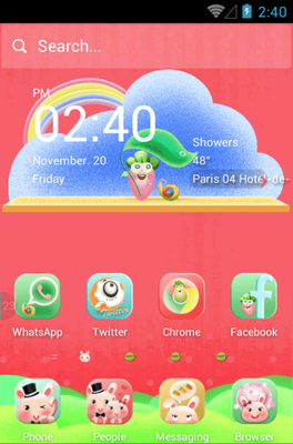 android theme 'Rabbit Family'
