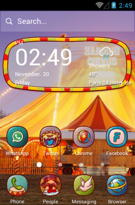 Circus Fun android theme