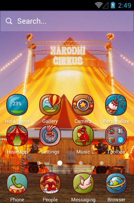 Circus Fun android theme home screen