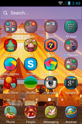 Circus Fun android theme application menu