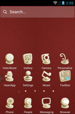 Clay Sculptures android theme home screen