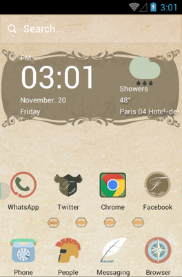 android theme 'Papyrus'