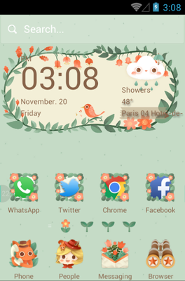 android theme 'The Little Adventurer'
