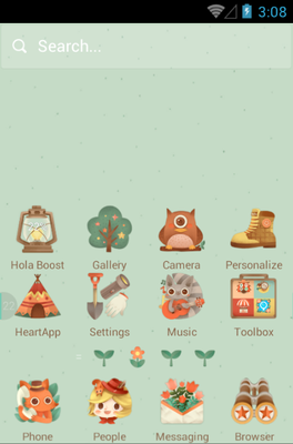 The Little Adventurer android theme home screen