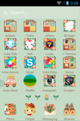The Little Adventurer android theme application menu