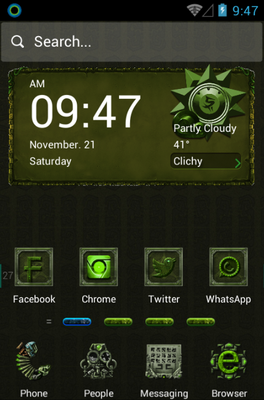 android theme 'Dangerous Ruins'