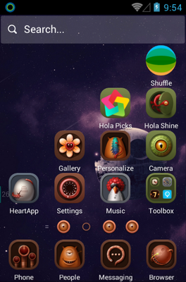 I've Been to Mars android theme home screen