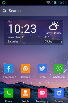 android theme 'Cool Cube'