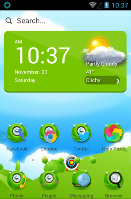 android theme 'MonsterOce'