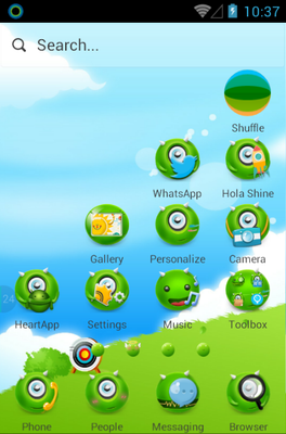 MonsterOce android theme home screen