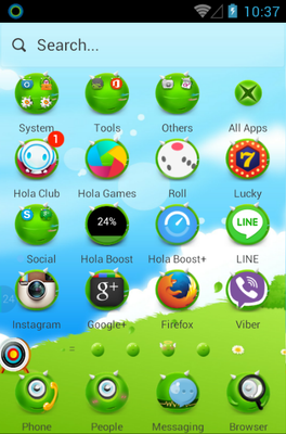 MonsterOce android theme application menu