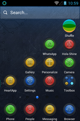 Dimension android theme home screen