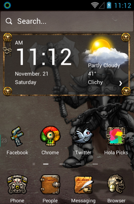 android theme 'Demon Warrior'