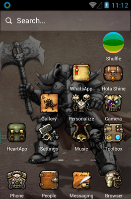 Demon Warrior android theme home screen