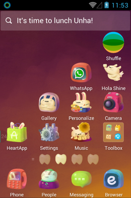 One Step Sway android theme home screen