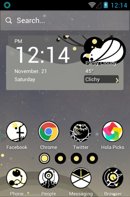 android theme 'Circle Planet'