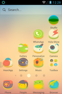 A Short Story android theme home screen