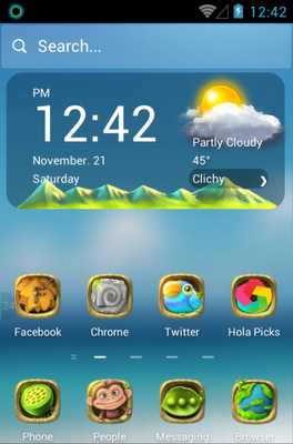 Green Planet android theme