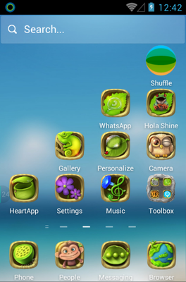 Green Planet android theme home screen