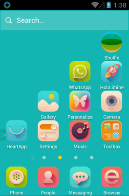 Sunshine android theme home screen