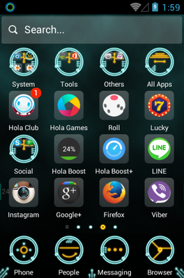 Circuit android theme application menu