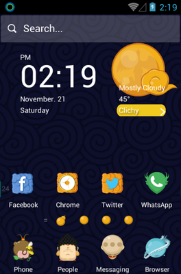 android theme 'Pilgrimage of the Four'