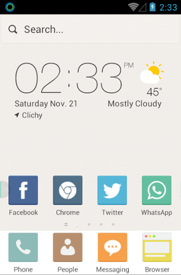 android theme 'Pure Color'