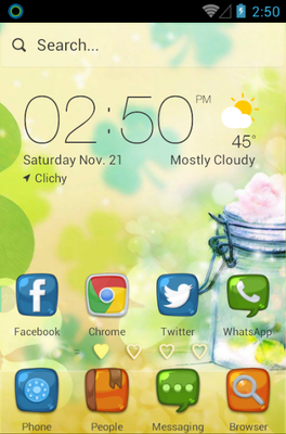 Love Heart android theme