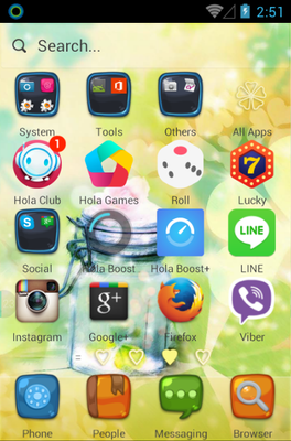 Love Heart android theme application menu
