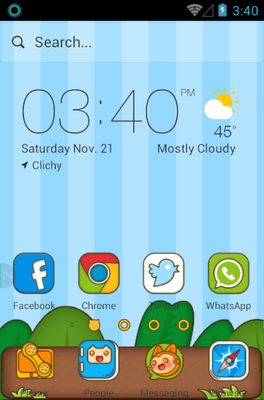 android theme 'Sly Cat'