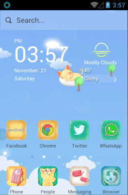 android theme 'Kitty Blue'