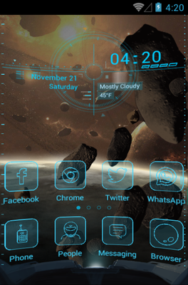 android theme 'Spaceship'