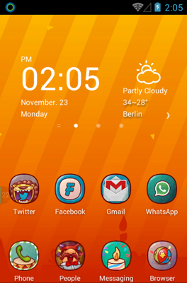 Hola Day android theme