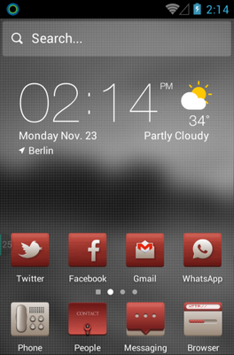 android theme 'Simple and Red'
