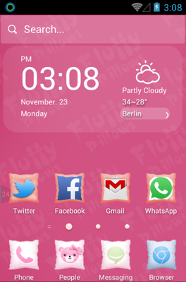 android theme 'Fluffy Pillows'