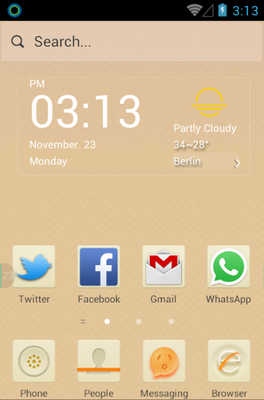 android theme 'Beige'