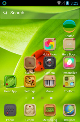 Miss Ladybug android theme home screen