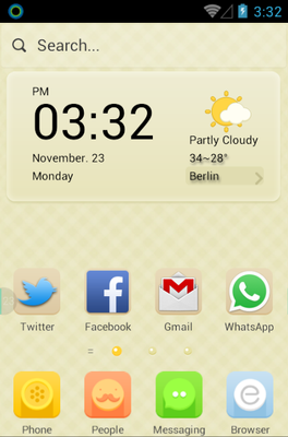 android theme 'Peachy Peach'