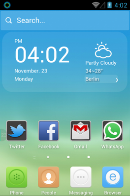 android theme 'The Subtle Blue'
