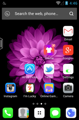 OS Plus android theme home screen